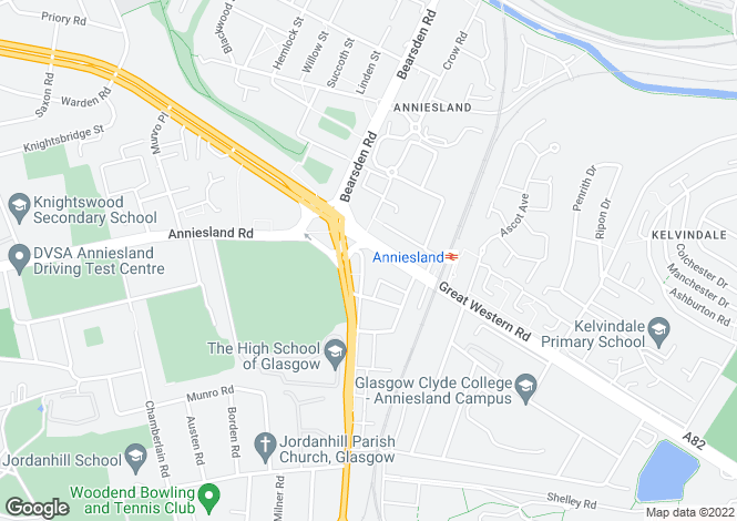 Map for 810 Crow Road, Flat 2-4, Anniesland, G13 1LY