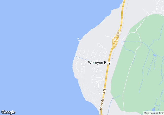 Map for Castle Wemyss Drive, Wemyss Bay, Renfrewshire And Inverclyde, PA18 6BU