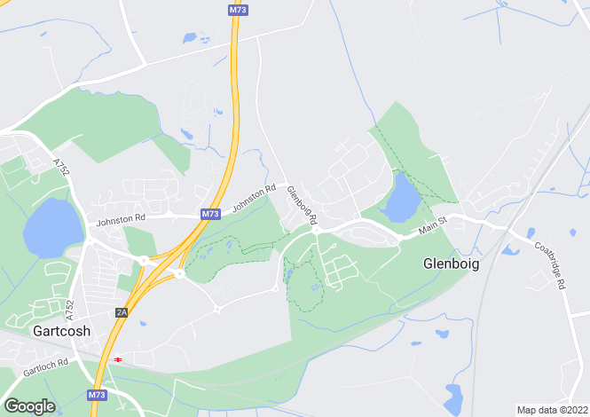 Map for Glenboig Road <br> Gartcosh, Lanarkshire
