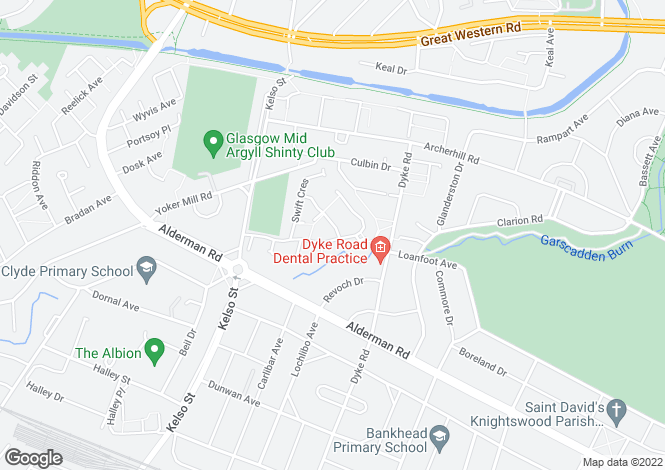 Map for Kingfisher Drive, Knightswood