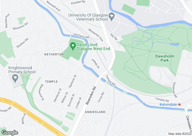 Map for Howth Drive,Anniesland,GLASGOW,G13 1RF,SCOTLAND