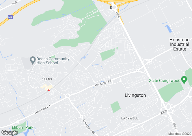 Map for Ross Way, Livingston