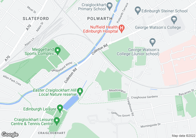 Map for 2 Craiglockhart Terrace, Craiglockhart, Edinburgh, EH14 1AJ