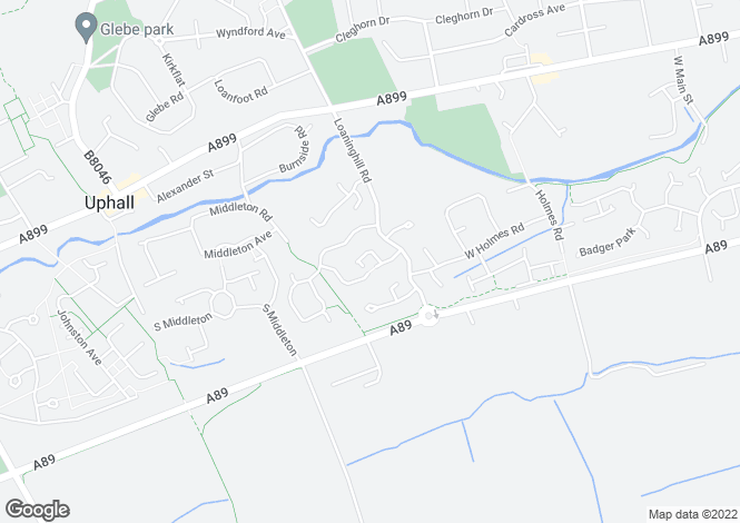 Map for Loaninghill Road, Uphall, Broxburn EH52