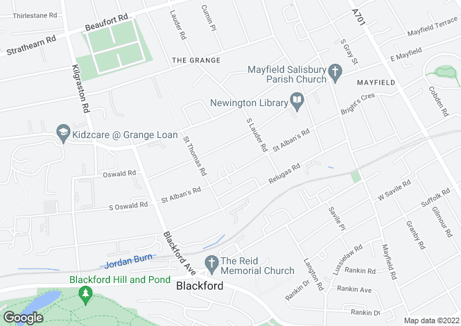 Map for 56 St. Albans Road, Grange, Edinburgh, Midlothian