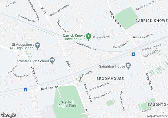 Map for Forrester Park Loan, Edinburgh EH12