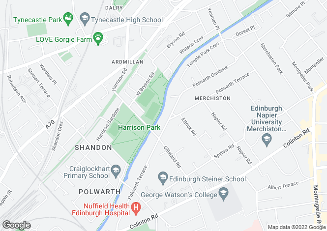 Map for Polwarth Terrace, Edinburgh, Midlothian
