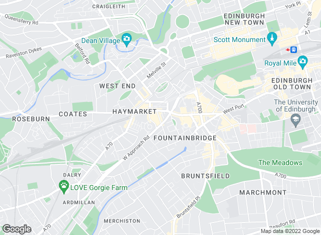 Map for Fineholm , Edinburgh - Lettings