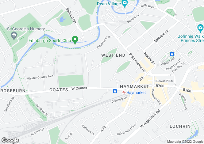 Map for 30 Coates Gardens, Edinburgh, EH12 5LE