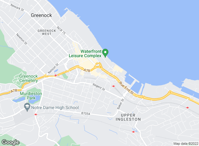 Map for BestMove Scotland, Greenock