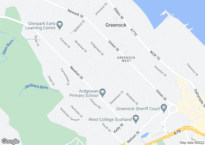 Map for Brisbane Street,