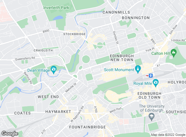 Map for Knight Frank, Edinburgh