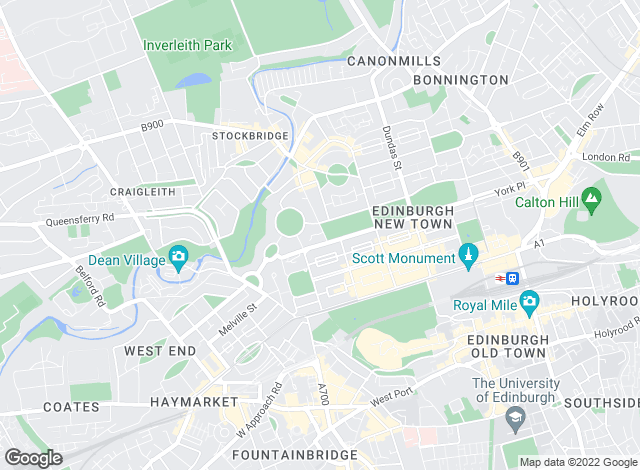 Map for Savills, Edinburgh