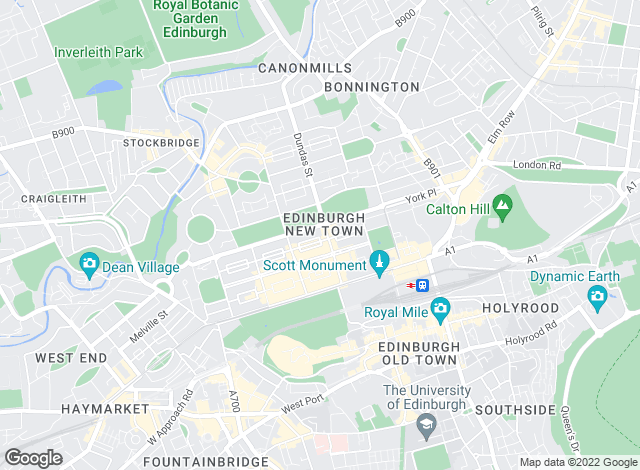 Map for Ryden Lettings, Edinburgh