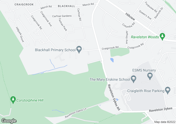 Map for Ravelston Dykes Road, Ravelston, EH4