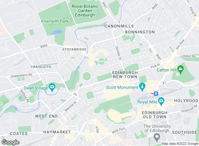Map for Rettie & Co , Edinburgh