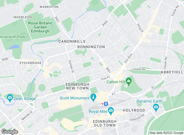 Map for Factotum Letting, Edinburgh