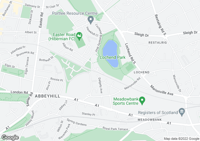 Map for Lochend Park View, Easter Road, Edinburgh