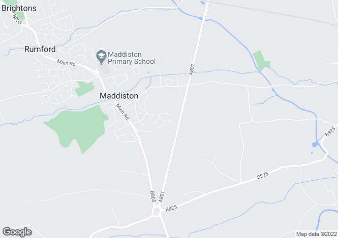 Map for 2 Bedroom House, Maddiston