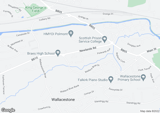 Map for Kennard Road, Brightons