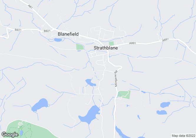 Map for Strathwood Milndavie Road, Strathblane, G63 9EN