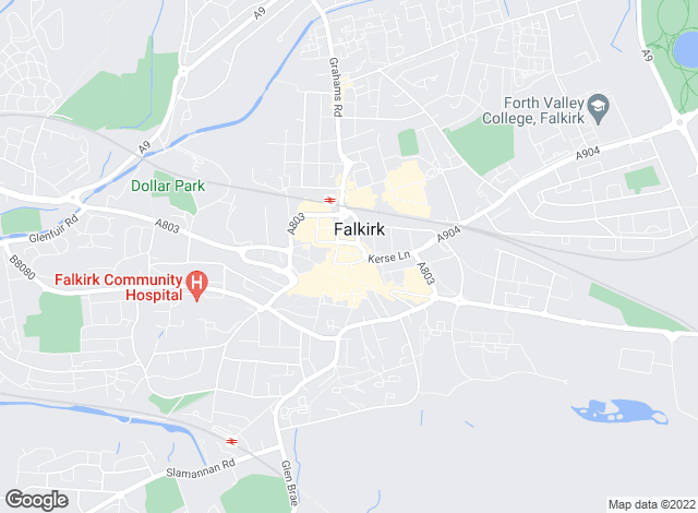 Map for YOUR MOVE, Falkirk