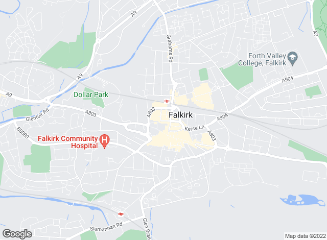 Map for Slater Hogg & Howison, Falkirk