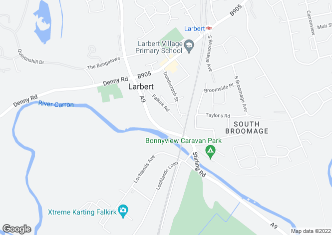 Map for Ashcroft House, 80A Falkirk Road, Larbert, Falkirk