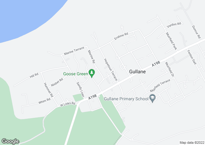 Map for Goose Green Road, Gullane