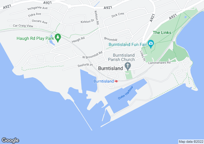 Map for Harbour Place, Burntisland, KY3