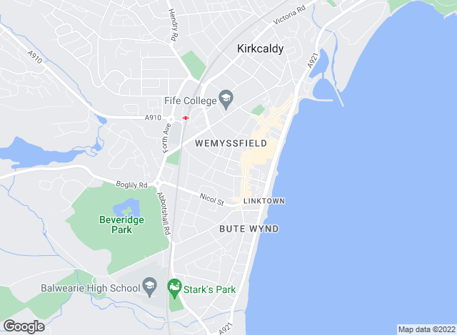 Map for Clarkson Hamilton , Kirkcaldy