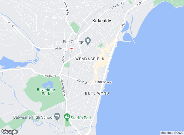 Map for RE/MAX First, Kirkcaldy
