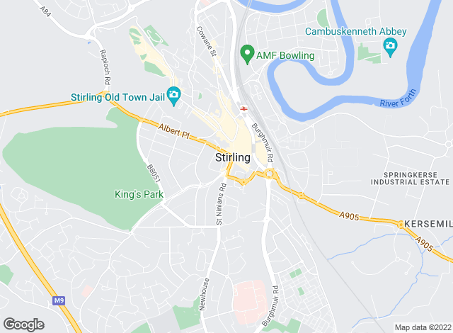 Map for B Spoke Mortgages and Property Management , Stirling