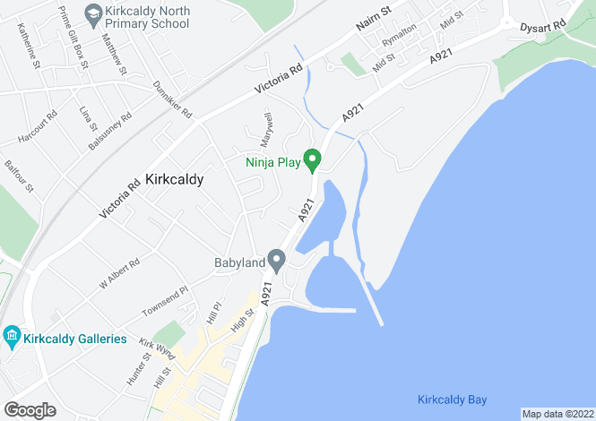Map for 439 High Street, Kirkcaldy, Fife, KY1 2SN