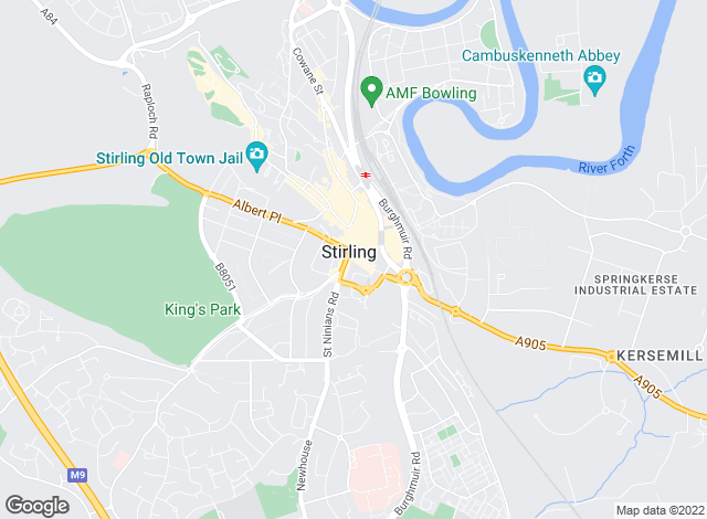 Map for Martin & Co, Stirling - Lettings & Sales