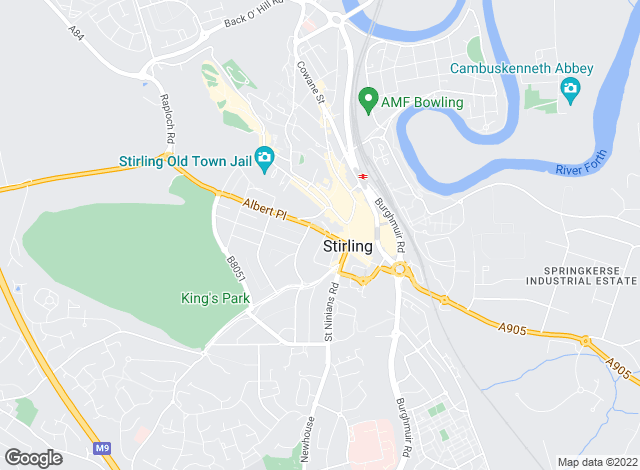 Map for Mathie Macluckie, Stirling