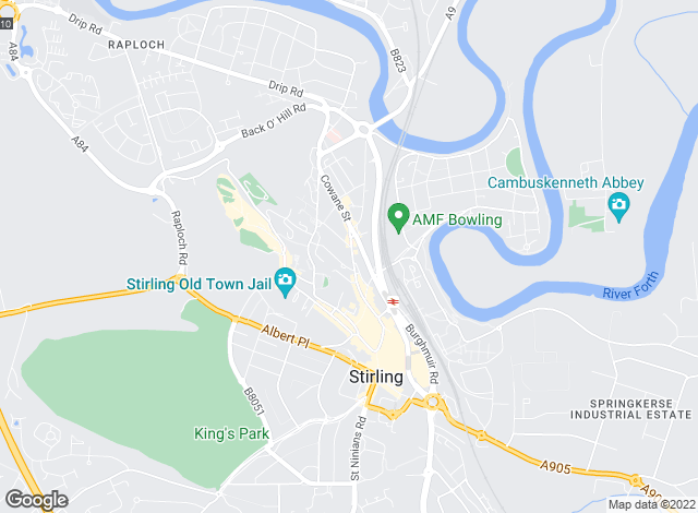Map for Belvoir Lettings, Stirling