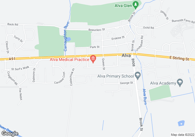 Map for 96 West Johnstone Street, Alva, Stirling, FK12 5BD