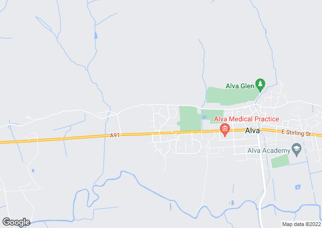 Map for 47 Torry Drive <br> Alva, Stirling, Falkirk & Clackmannan