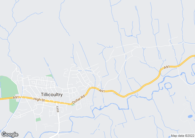 Map for Tait Place, Tillicoultry