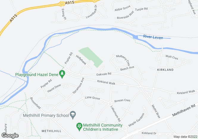 Map for Oakvale Road, Methil, LEVEN, Fife