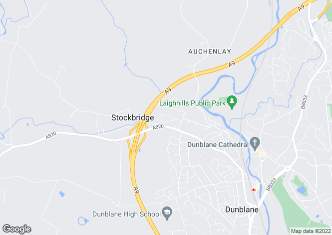 Map for 4 Montrose Way, Dunblane, Stirling, FK15 9JL