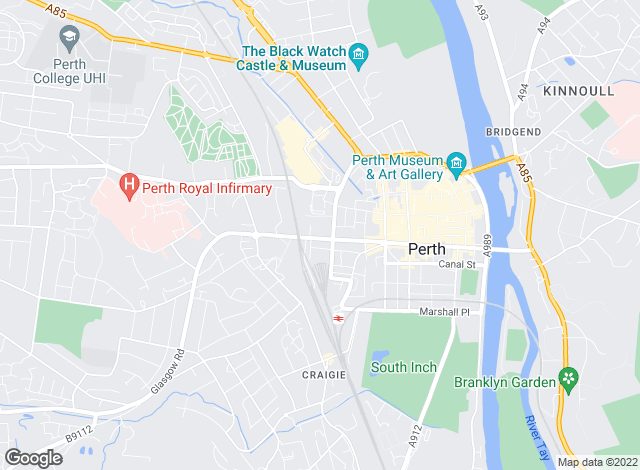 Map for Savills New Homes, Perth