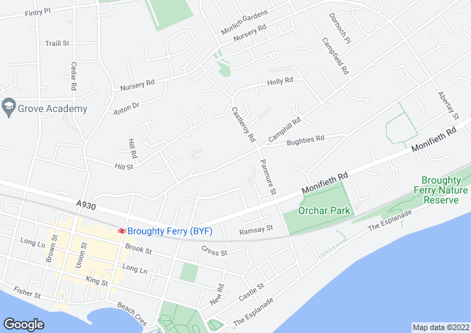 Map for Craig Gowan, Camphill Road, Broughty Ferry
