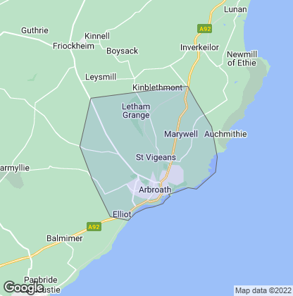 Map of property in Arbroath