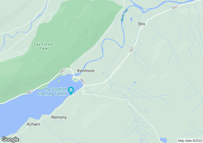 Map for The Ross, Taymouth Castle Estate, Kenmore