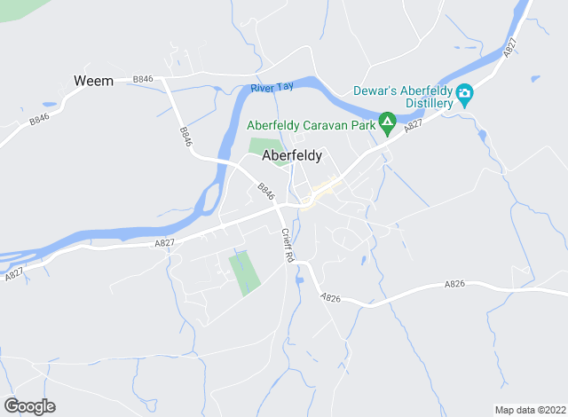 Map for CKD Galbraith, Aberfeldy