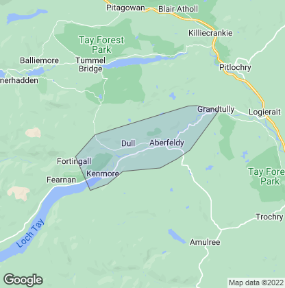 Map of property in Aberfeldy