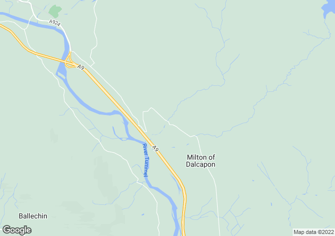 Map for Tumallt House, Tumallt, East Haugh, Pitlochry, PH16