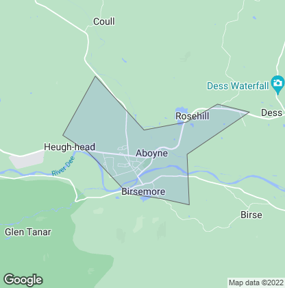 Map of property in Aboyne